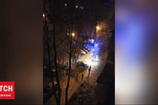 В Ровно 15 пожарных тушили машины, которые вспыхнули в результате аварии
