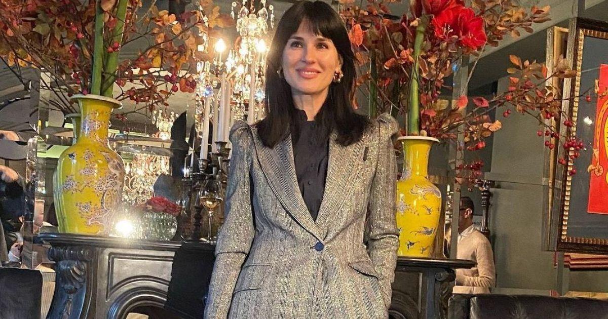 У штанному костюмі і з сумкою Dior: стильна Маша Єфросиніна на вечірці