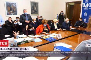 Перерахунок голосів: Херсонську обласну ТВК звинуватили у фальсифікації результатів виборів