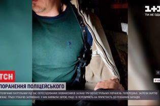 Киевский патрульный получил огнестрельные ранения при задержании злоумышленников