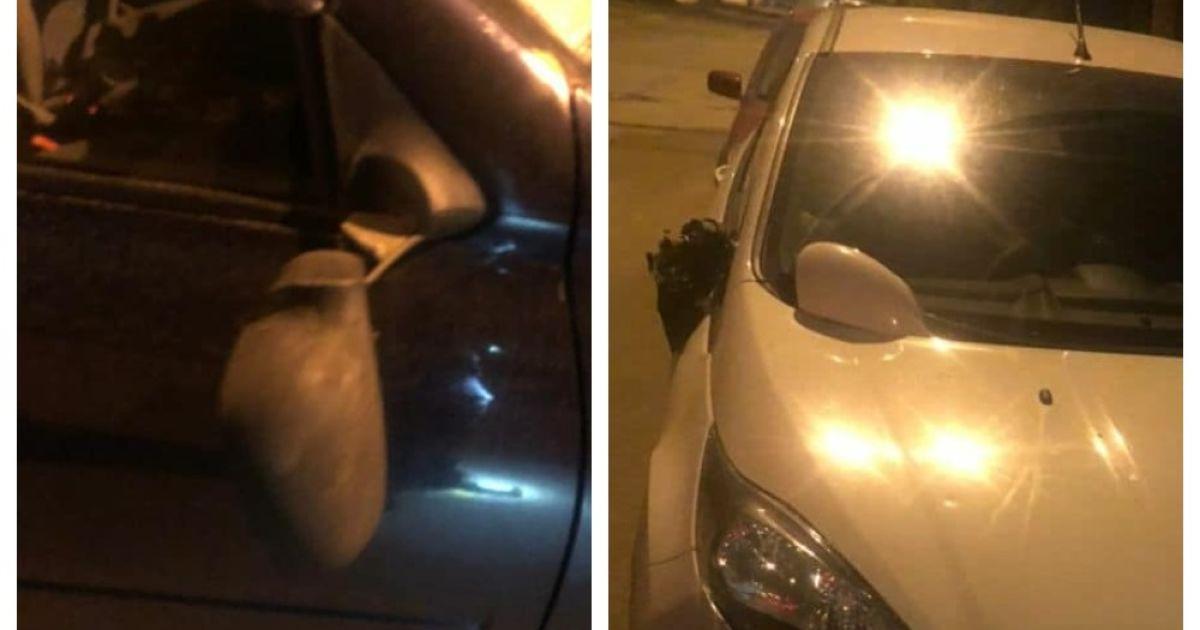 В Киеве двое нетрезвых мужчин отрывали зеркала у припаркованных авто и напали на копов