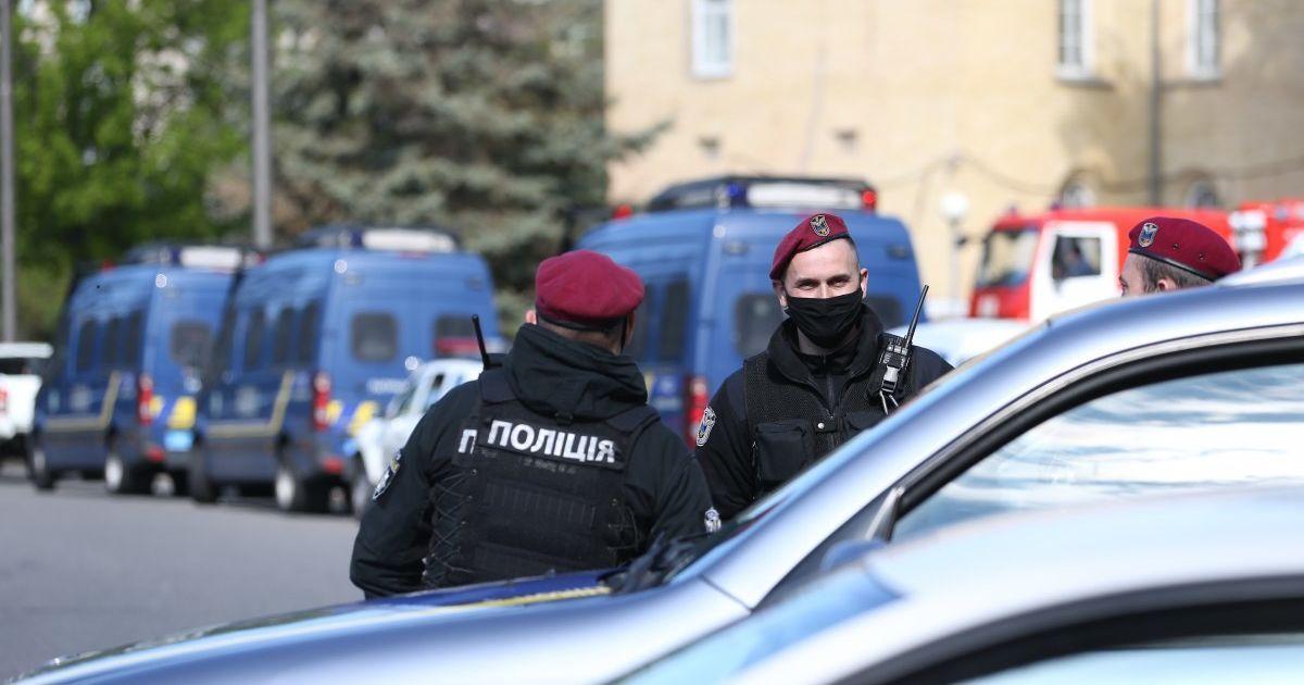 Полиция усилила охрану в центре Киева, где предприниматели вышли на массовый протест