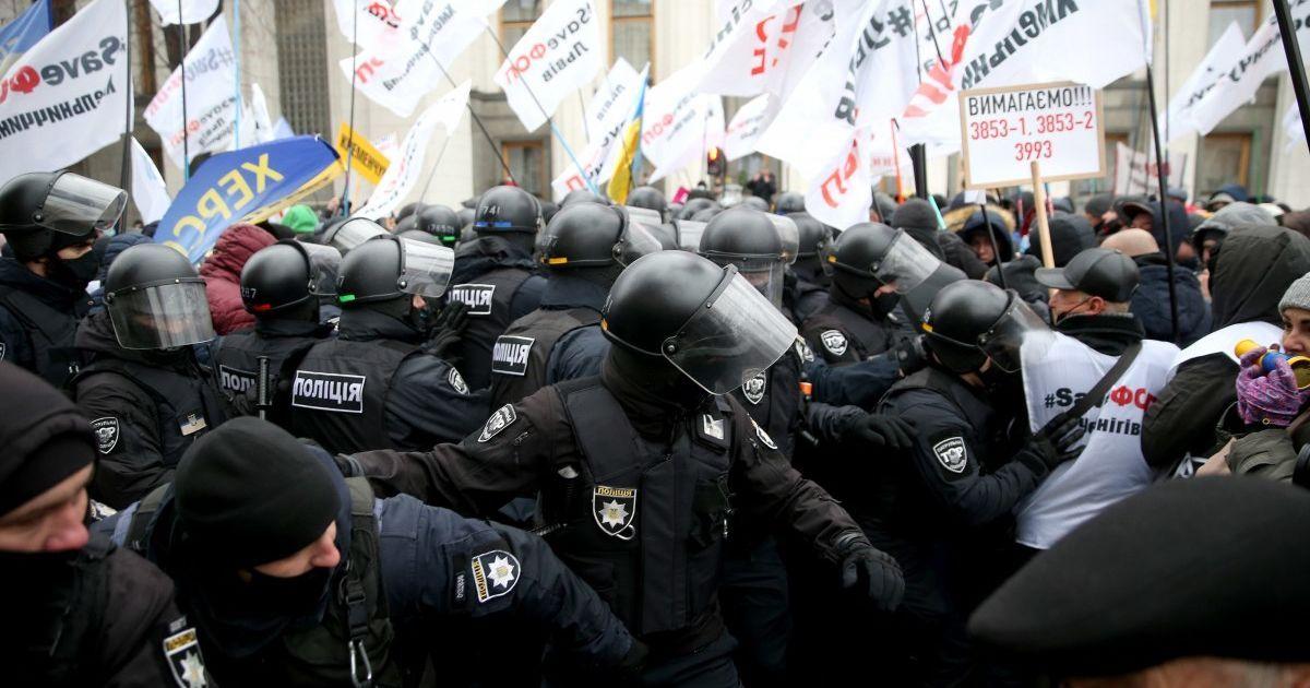 В полиции рассказали, есть ли задержанные из-за столкновений возле Рады