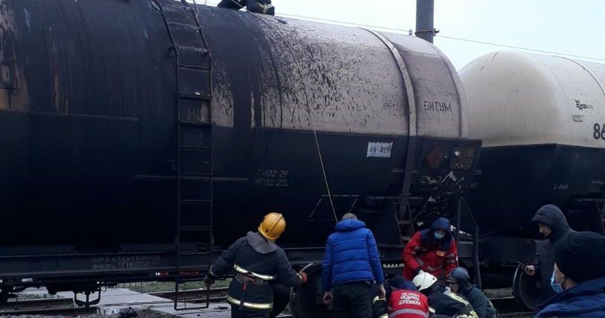 У Київській області чоловік виліз на поїзд та зазнав удару струмом