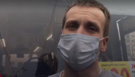 В Киеве маршрутчика остановили за разговор по телефону и обнаружили у него признаки наркотического опьянения