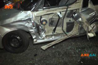Тройная авария произошли на Воздухофлотском проспекте в Киеве