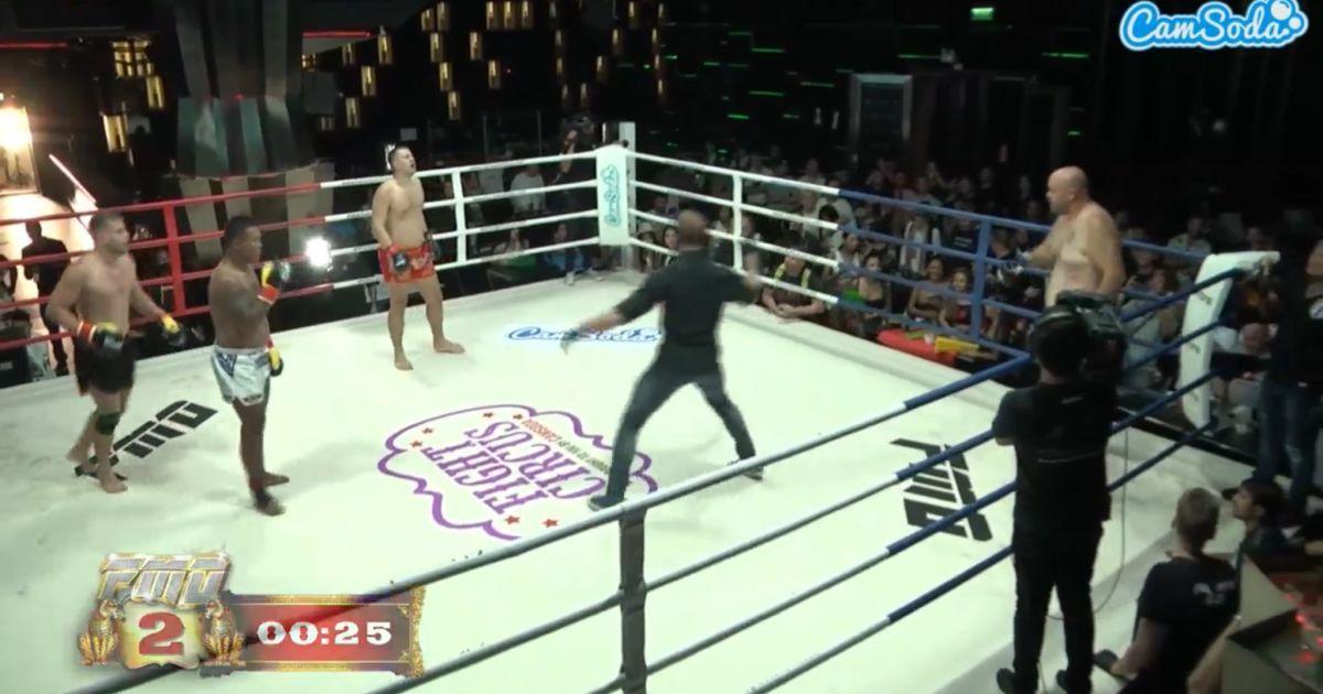 Троє проти одного та битва музикантів: треш-турнір ММА в Таїланді розірвав Мережу (відео)