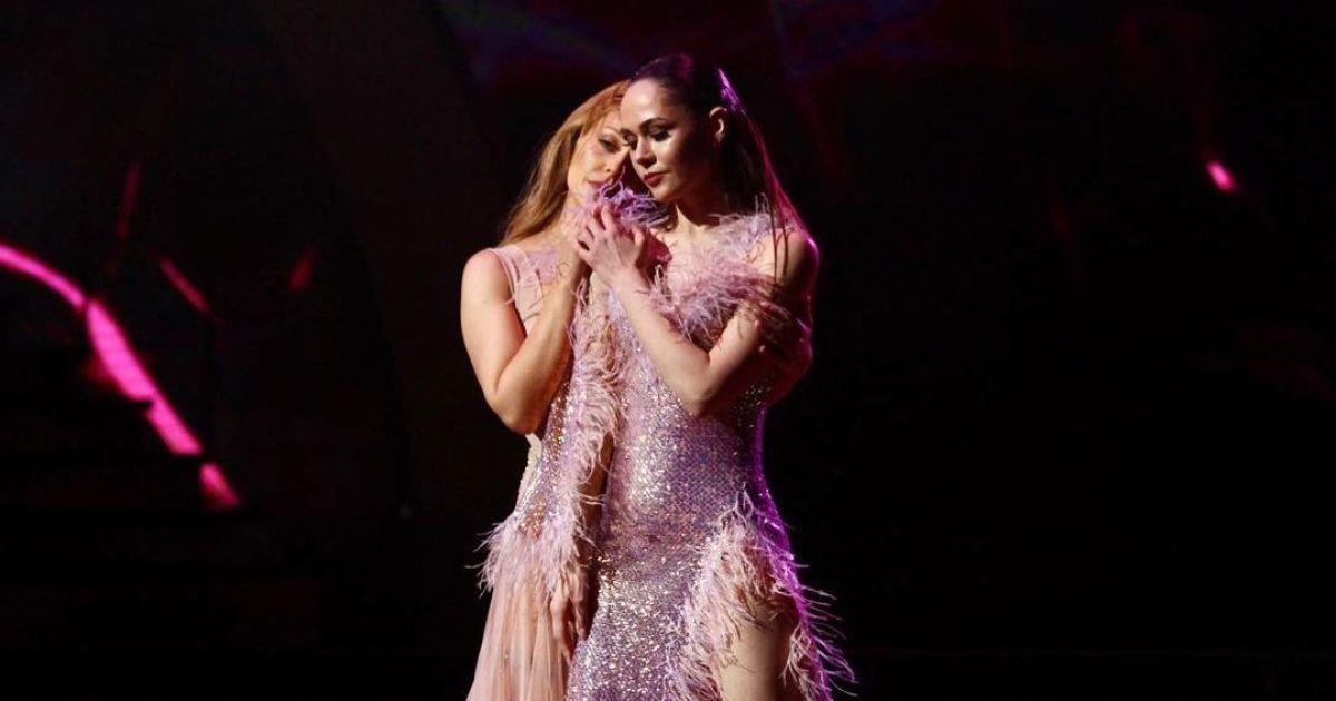 """""""Танці з зірками"""": Тіна Кароль у напівпрозорій сукні захопила чуттєвою румбою з Саніною"""
