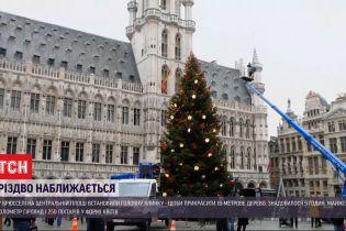 Рождество приближается: в крупных городах Европы устанавливают главные елки