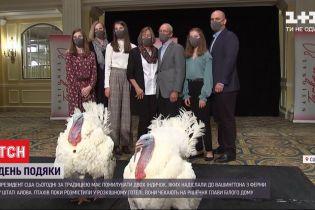 До Дня благодарения в Вашингтон прибыли двое птиц, которых президент США должен помиловать
