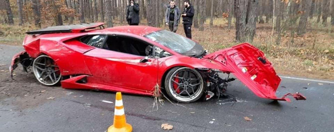 В Киевской области во время съемок фильма разбили суперкар Lamborghini Huracan