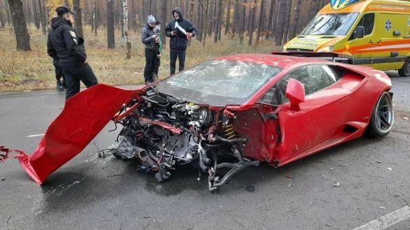 Lamborghini Huracan, аварія