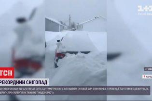 На сході Канади випало одразу 70 сантиметрів снігу