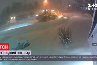 В Канаде выпали рекордные 70 сантиметров снега - стихия заблокировала дороги