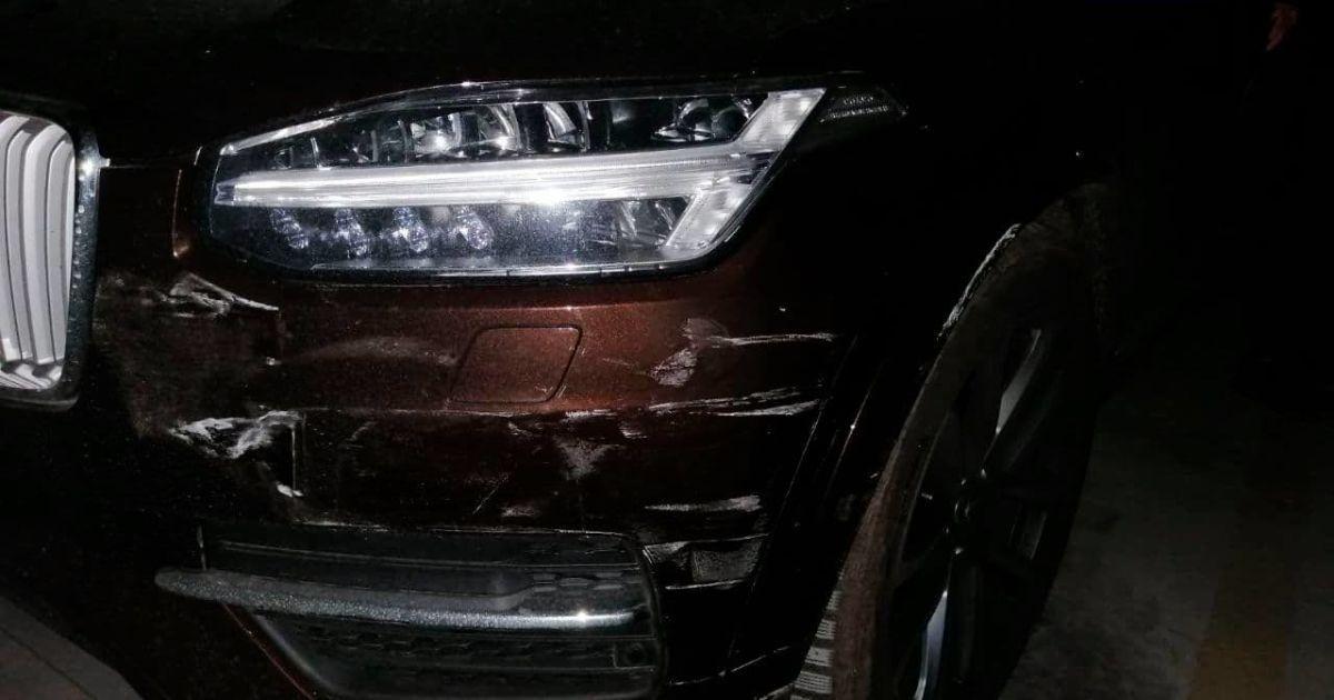 В Киеве пьяный водитель совершил ДТП и скрылся в паркинге