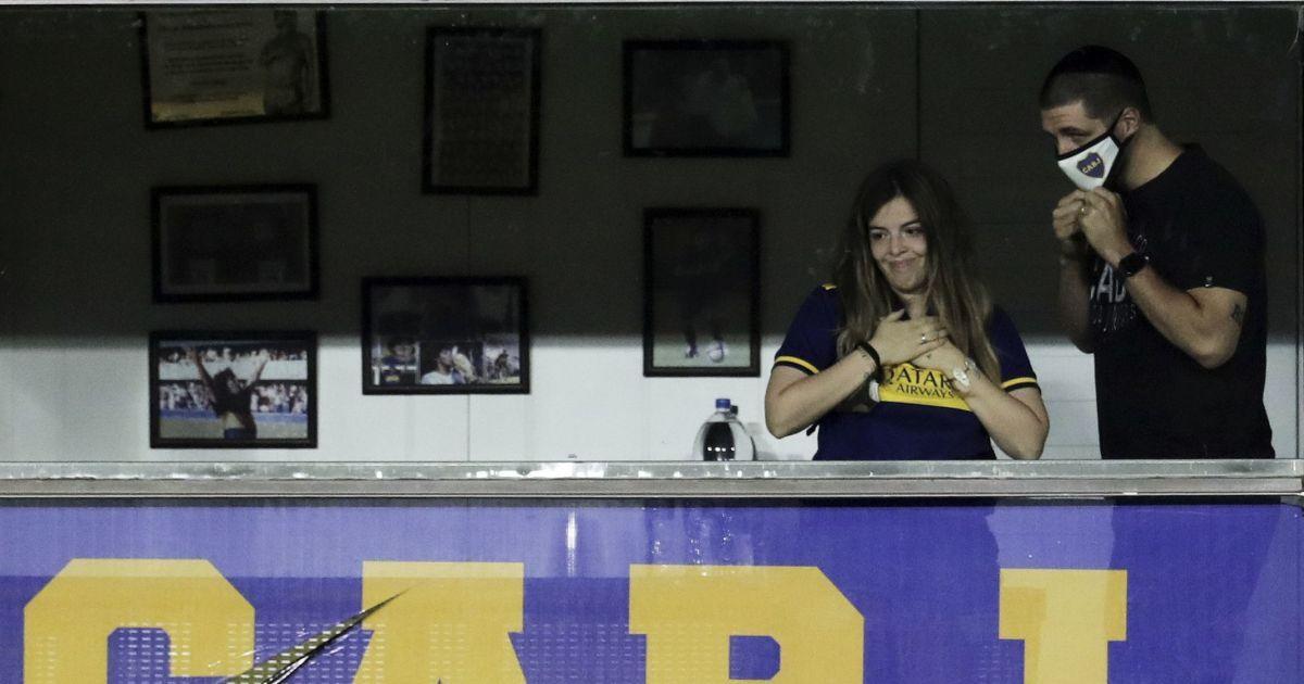 Футболісти аргентинського клубу вшанувала пам'ять Марадони і довели до сліз його дочку (відео)
