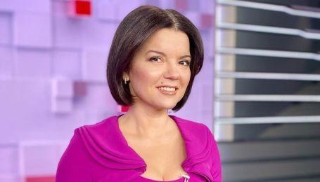В платье цвета фуксии: Маричка Падалко в ярком образе появилась в эфире