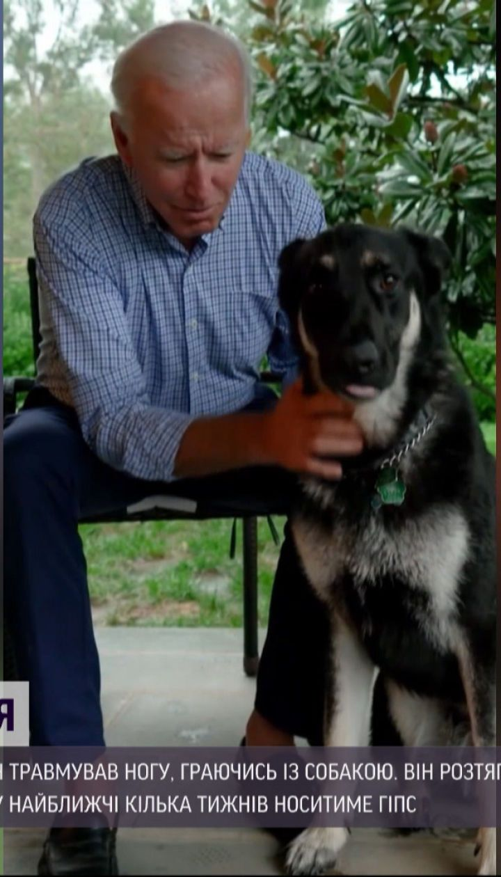 Тріщини у кістках: Джо Байден травмував ногу, граючись із власним собакою