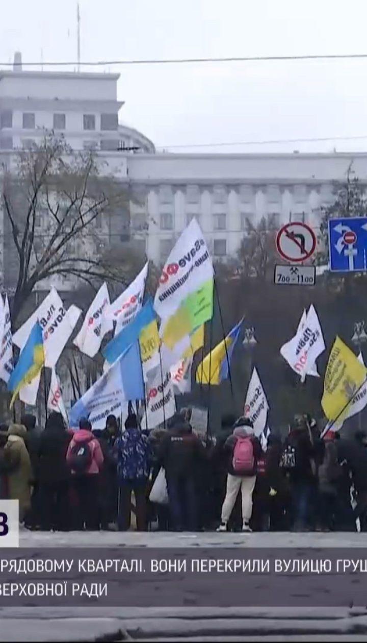 Протест в правительственном квартале: что требуют предприниматели под парламентом