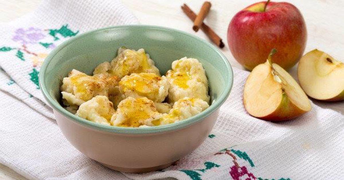 Полтавські галушки з яблуками до сніданку