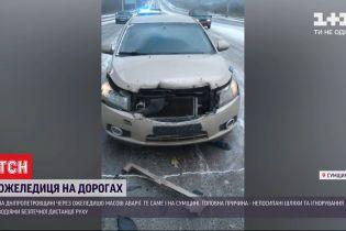 Автомобільний вальс на дорогах: ожеледиця спровокувала численні аварії в кількох містах України