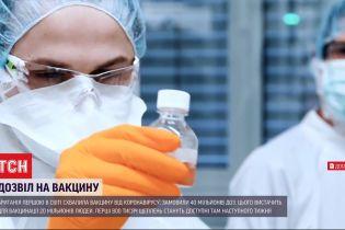 Велика Британія замовила першу партію вакцини від COVID-19 - 40 мільйонів доз