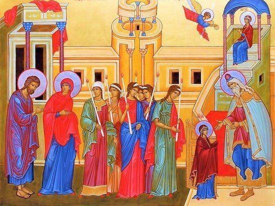 Введення в храм Богородиці ікона
