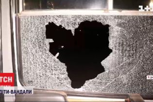 В Днепре полиция разыскивает несовершеннолетних хулиганов, которые разбили троллейбусы