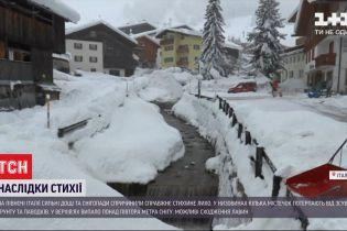 Північ Італії потерпає від снігопадів і рясних дощів, перекриті кілька автомагістралей