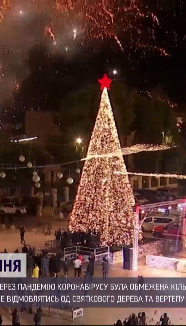 Символ надії: у Віфлеємі запалили різдвяну ялинку