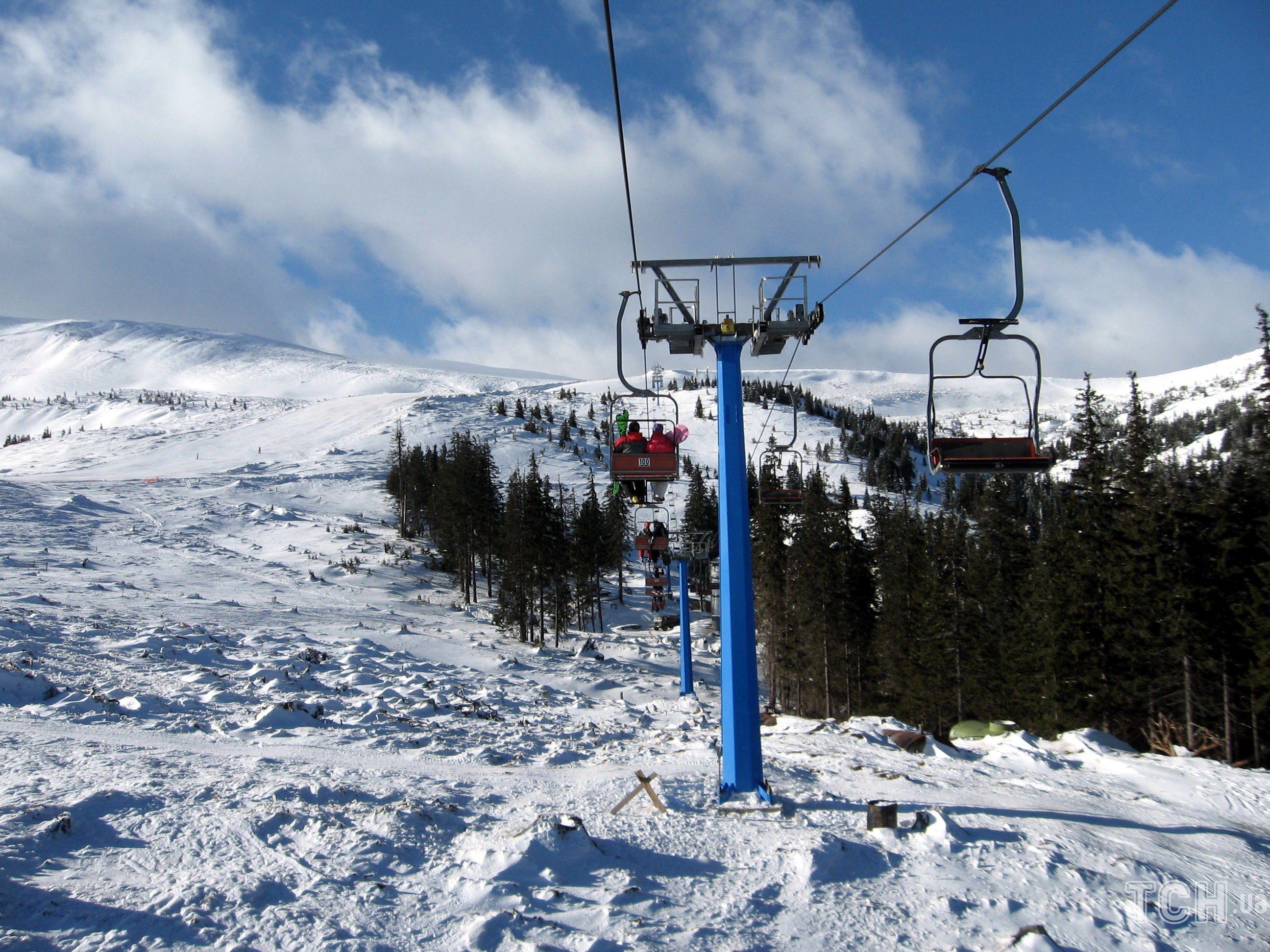 лыжный курорт Драгобрат, горнолыжный курорт, подъемник на Драгобрате