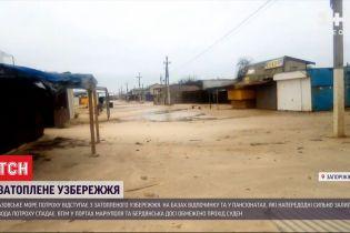 На Азові море почало відступати із затопленого узбережжя