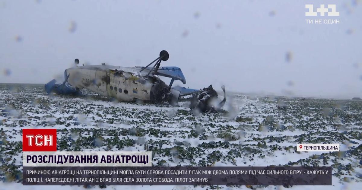 Крушение самолета в Тернопольской области: полиция назвала предварительную версию аварии