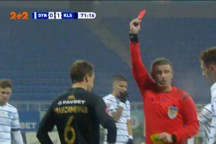 Динамо - Колос - 0:1. Арбітр після перегляду VAR скасував жовту картку Максименка і дав червону