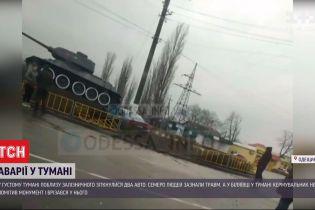 Въехал в танк времен Второй мировой: в Одесской области из-за тумана водитель не заметил монумент