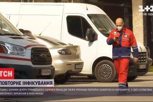В Украине зафиксировали более 2 тысяч повторных заражений коронавирусом