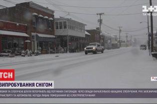 Япония и США страдают от снежного нашествия