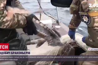 Біля острова Джарилгач викрили браконьєрів – водна поліція знайшла рибальські сіті з рідкісною рибою