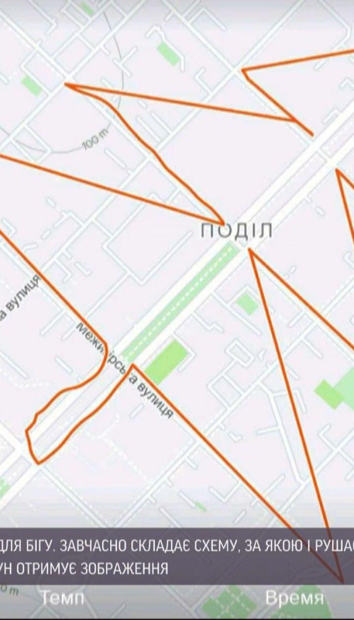 Киевлянин создает рисунки маршрутами пробежек