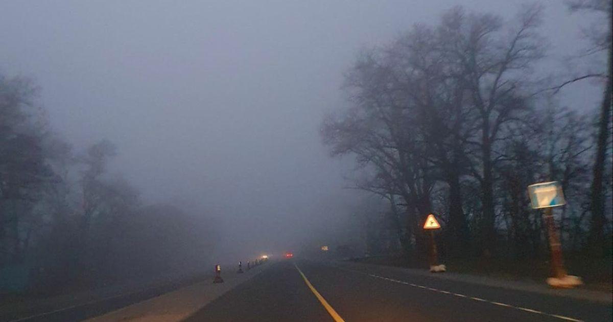 Киев и область окутал туман: как действовать водителям