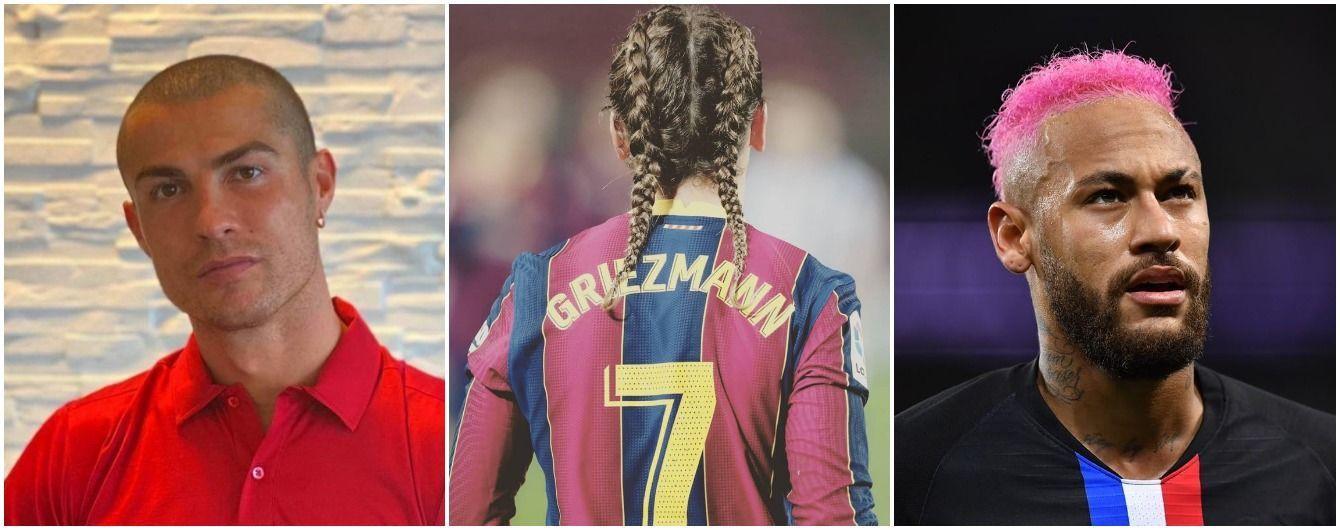 Эпатажные прически футболистов 2020: от лысого Роналду до косичек Гризманна