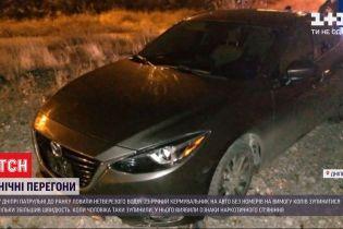 Гонки с преследованием: полиция в Днепре всю ночь ловила нетрезвого водителя