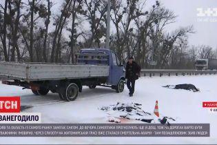 Кілька ДТП через снігопад на Житомирській трасі: яка ситуація на автомагістралях