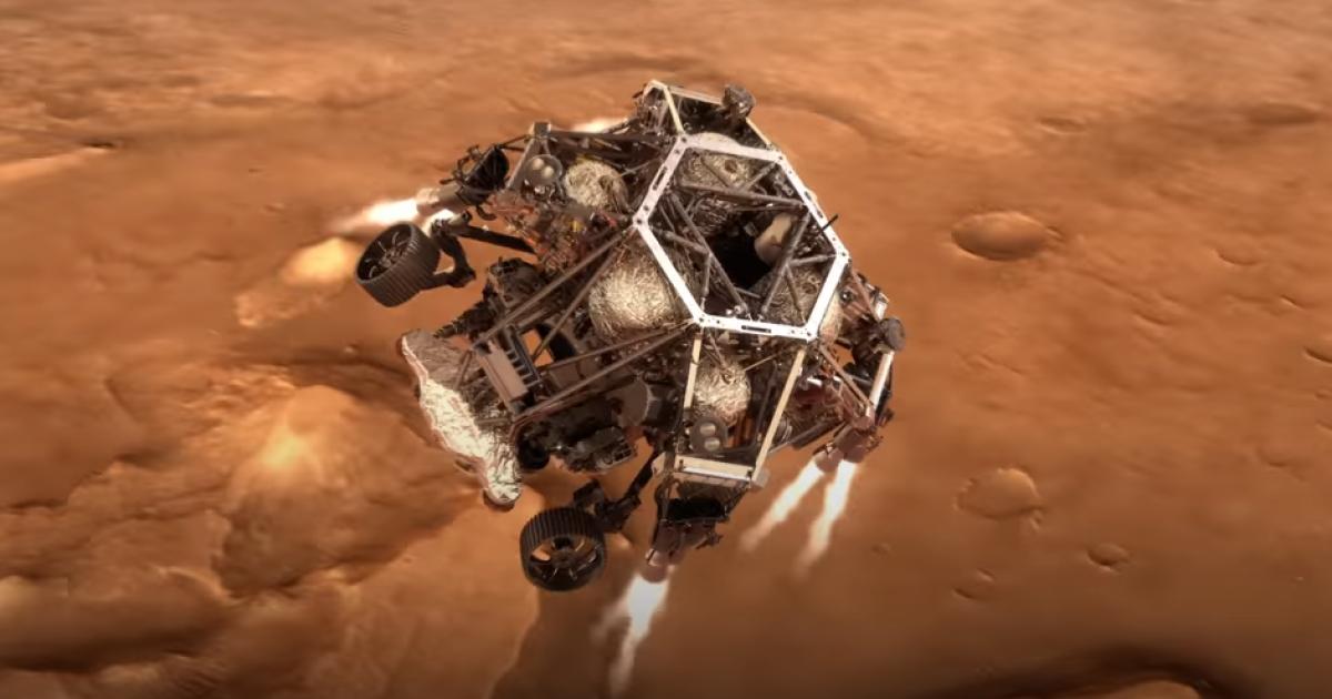 """Політ у пів року: NASA показало """"трейлер"""" майбутнього прибуття марсохода з гвинтокрилом на Марс"""