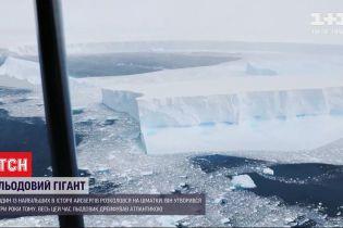 Крупнейший в мире айсберг разбился на глыбы льда