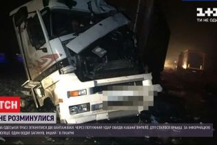 На Одеській трасі дві фури зіткнулися лоб у лоб – один водій загинув