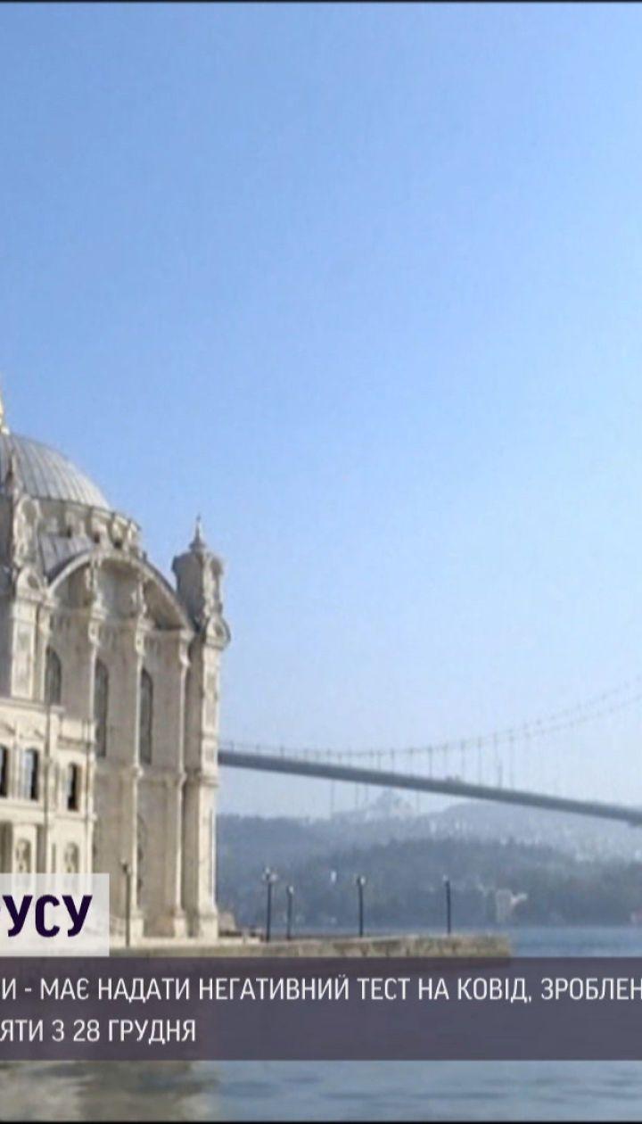 Сюрприз для туристов: на въезде в Турцию будут требовать отрицательный тест на коронавирус