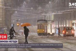 Негода у Європі: одразу кілька великих міст добряче засніжило