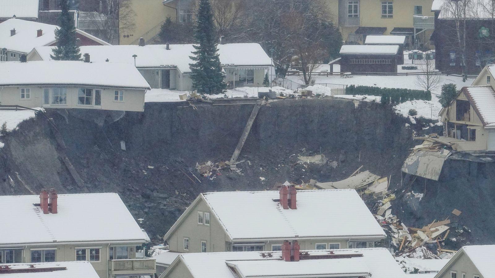 Pсуви ґрунту у Норвегії
