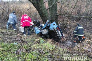 Выехал с дороги и врезался в дерево: под Попельней в результате ДТП погибли трое молодых мужчин
